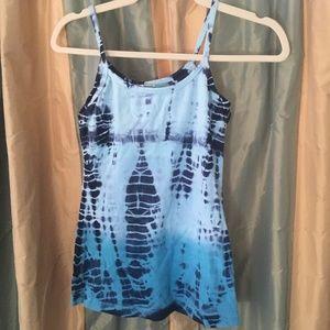 Hard Tail Blue tie dye Yoga tank